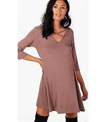 maternity erin cross strap swing dress
