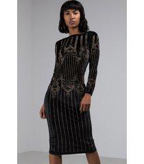 akira high hopes studded velvet midi dress