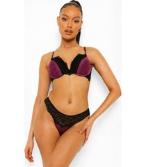 jewel tone super push up beha, purple