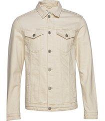 slhjeppe 6214 white st denim jacket w jeansjack denimjack crème selected homme