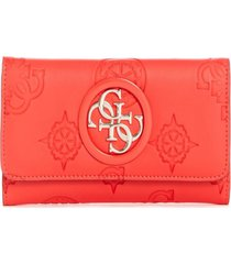 billetera open road slg slim clutch rojo guess