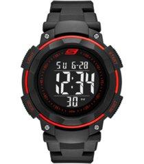 skechers men's ruhland digital polyurethane strap watch 45mm
