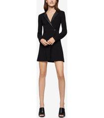 bcbgeneration faux-leather-trim blazer dress