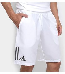 bermuda adidas club 3 stripes masculina