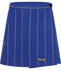 philosophy di lorenzo serafini blue skirt for girl with logo