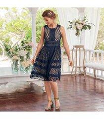 sundance catalog women's avery dress petite in navy petite 8