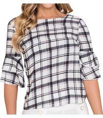 blusa antonieta blanco -n  para mujer croydon