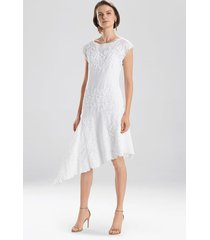 sofia dress, women's, white, cotton, size 2, josie natori