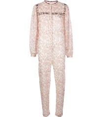 isabel marant étoile floral print cotton jumpsuit - white