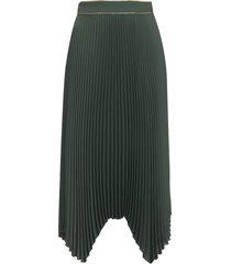 tory burch pleated asymmetrical skirt