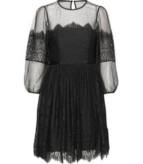 chiara lace mini dress korte jurk zwart french connection