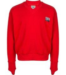 boramy viguier front patch sweatshirt - red