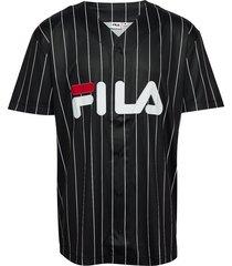 men dawn baseball tee t-shirts short-sleeved svart fila