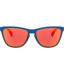 men's oakley frogskins(tm) 57mm square sunglasses - primary blue/ prizm ruby