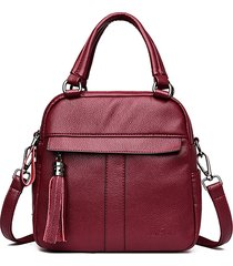 borsa a tracolla multifunzionale borsa a doppio strato per borsa da donna per il tempo libero