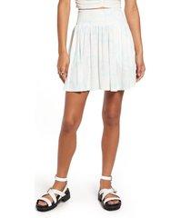 bp. bandana print knit miniskirt, size x-large in ivory- blue bandanamix at nordstrom