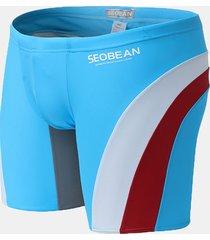 seobean skinny shorts idrorepellenti traspirabili con patchwork con coulisse convesso u