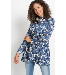 lange blouse met camouflageprint