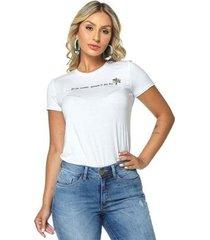 t-shirt daniela cristina gola u 01 602dc10276 branco pp - feminino