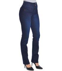 jeans tiro alto regular 2848 azul amalia jeans