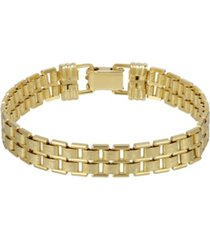 2028 women's 14k gold dipped link chain bracelet
