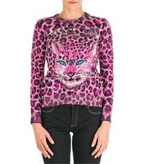 maglione maglia donna girocollo love me wild