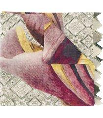 faliero sarti printed pointed edge scarf - green