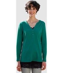 blouse dress in smaragdgroen