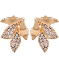 t tahari women's fashionable florals clip on earring