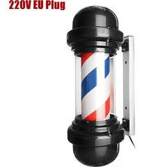 50cm led de poste del peluquero sesión giratoria hair salon rojo blanco azul diseño raya - normativa europea 220v