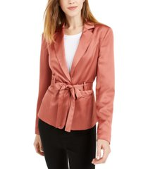 bar iii belted satin blazer, created for macy's