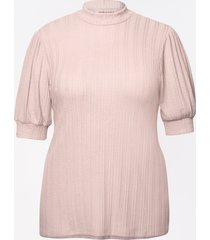 maurices plus size womens mock neck puff sleeve top pink