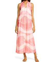 bb dakota by steve madden dream patcher print dress, size x-large in bright rose at nordstrom