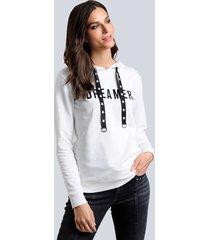 sweatshirt alba moda offwhite::zwart