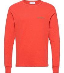 artwork tee long sleeve t-shirts long-sleeved röd han kjøbenhavn