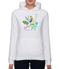 bluza damska. kwiaty i ptaki