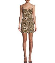constance leopard-print mini dress