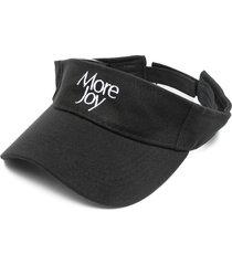 more joy more joy-embroidered visor - black