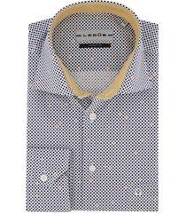 overhemd ledub modern fit donkerblauw stippen