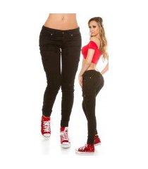 trendy skinny cargo jeans zwart