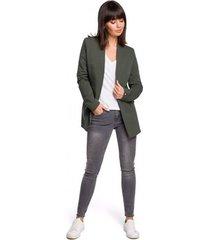 jurk be b103 open blazer plus size - militair groen
