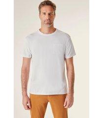 camiseta bolso pima reserva branco - branco - masculino - dafiti