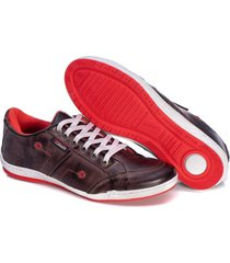 sapatenis couro tchwm shoes masculino confortavel macio marrom
