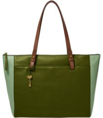 fossil women's rachel leather tote