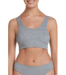 women's honeydew intimates bailey bralette, size x-large - grey