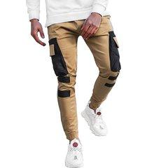 moda hombre overoles con múltiples bolsillos estilo streetwear con cordón casual pantalones