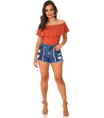 shorts jeans express hot pants duo azul