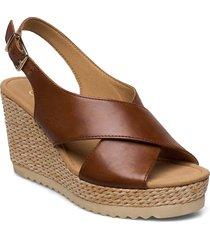 sandals sandalette med klack espadrilles brun gabor