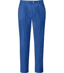 enkellange broek model audrey met rechte pijpen van basler blauw