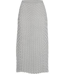 onlalma poly plisse skirt aop wvn knälång kjol grå only